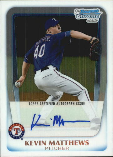 Photo of 2011 Bowman Chrome Draft Prospect Autographs #KM Kevin Matthews