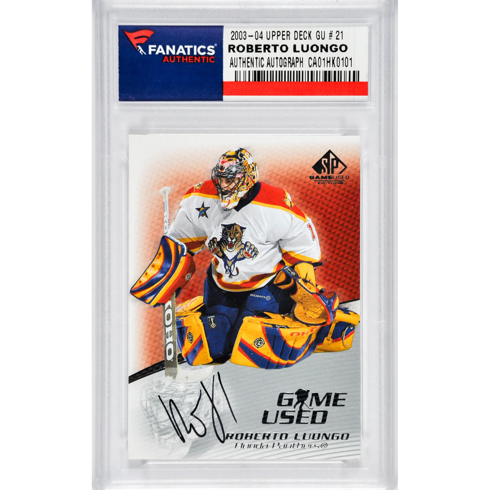Roberto Luongo Florida Panthers Autographed 2003-04 Upper Deck GU#21 Card