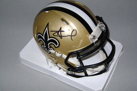 NFL - SAINTS ALVIN KAMARA SIGNED SAINTS MINI HELMET