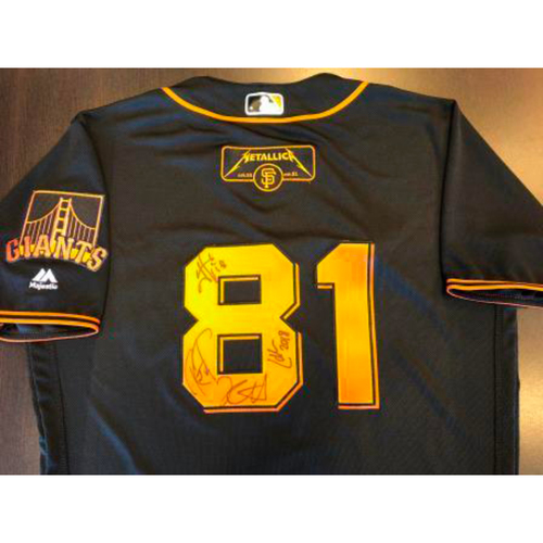 Photo of Giants Metallica Auction: Metallica Signed Giants Black Jersey