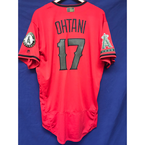 Photo of Shohei Ohtani Game-Used 2018 Memorial Day Jersey