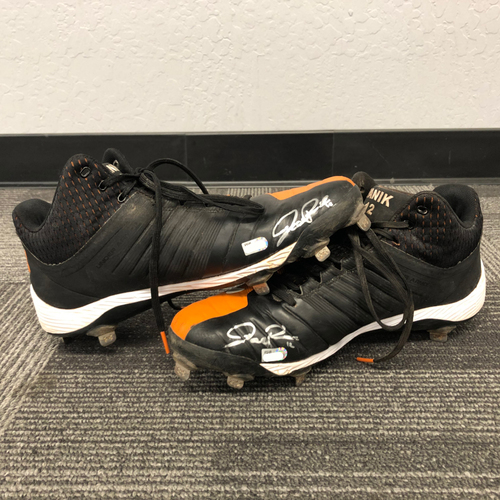 Photo of 2018 Team Issued & Autographed Cleats (PAIR) - #12 Joe Panik - Size 11.5