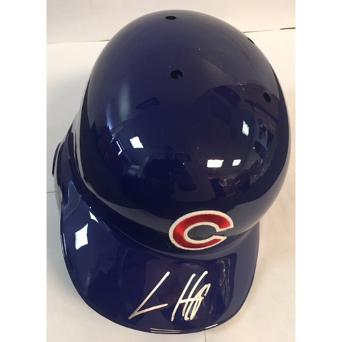 Photo of Ian Happ Autographed Cubs Batting Helmet