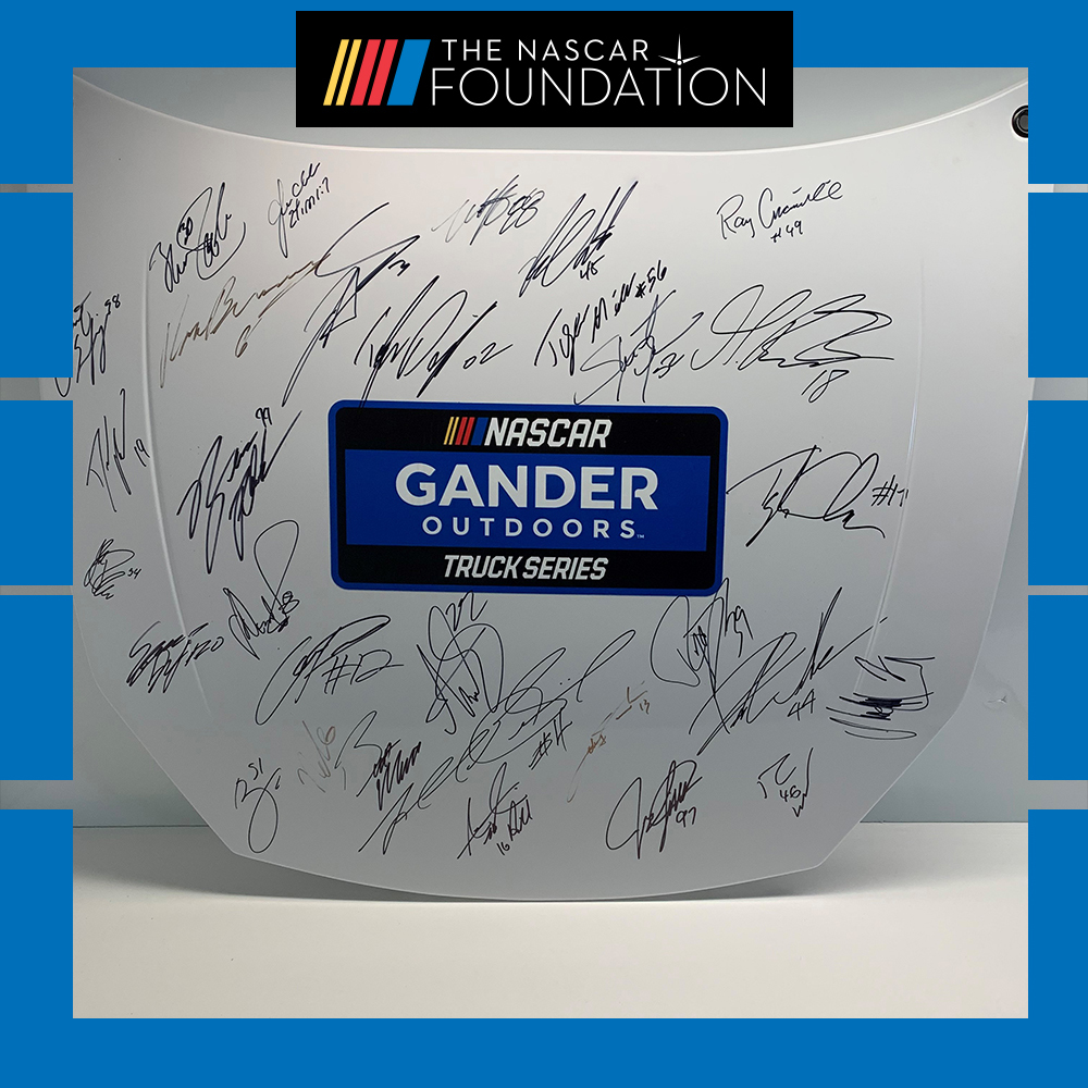 NGOTS Autographed hood at Dover International Speedway!