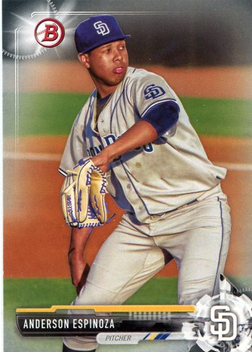 Photo of 2017 Bowman Prospects #BP54 Anderson Espinoza