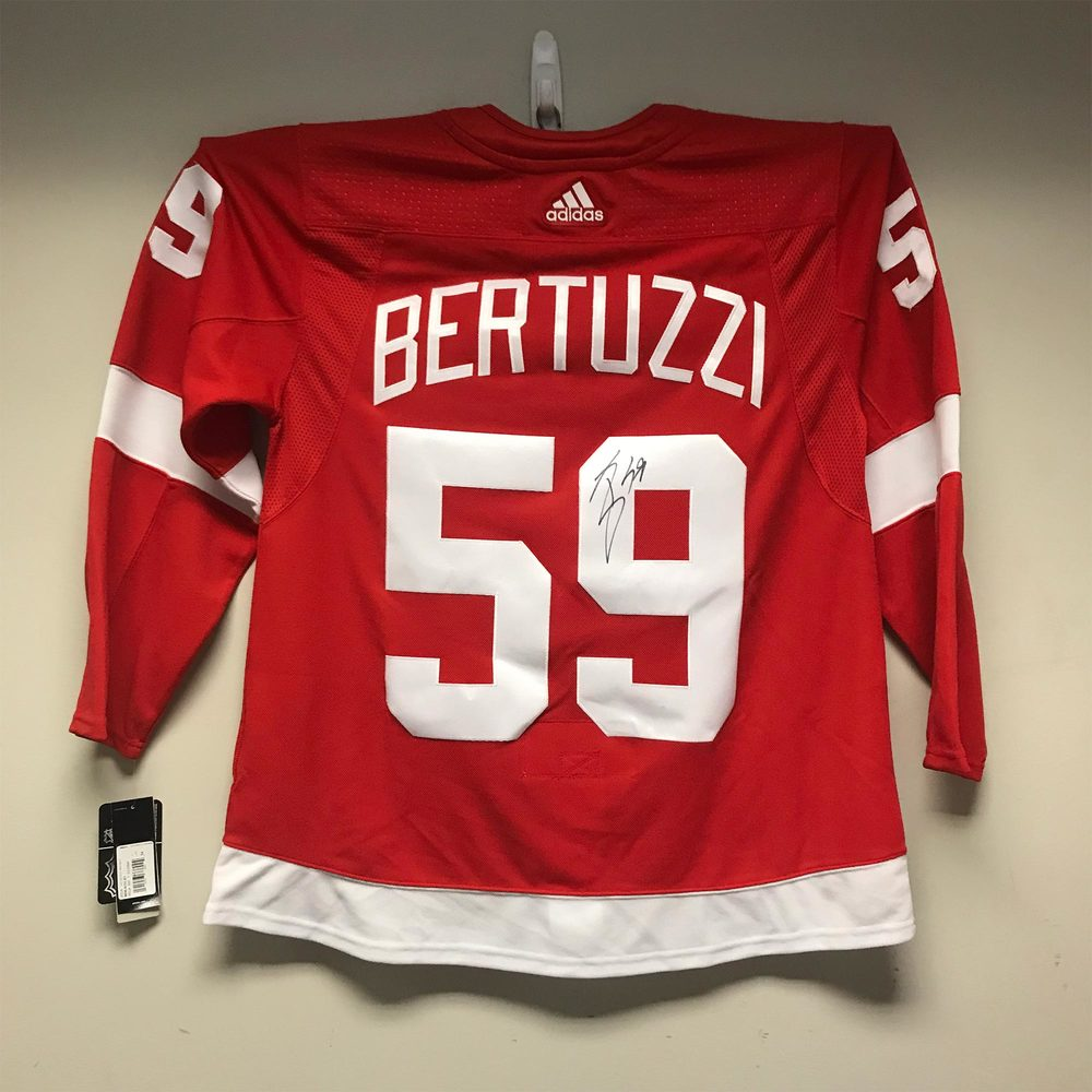 Detroit Red Wings adidas Jersey Signed by #59 Tyler Bertuzzi