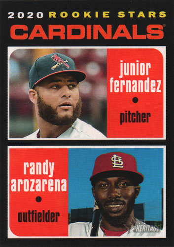 Photo of 2020 Topps Heritage #216 Randy Arozarena RC/Junior Fernandez RC