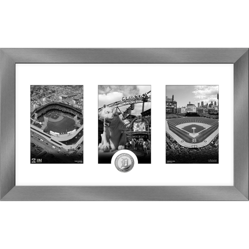 Photo of Detroit Tigers Art Deco Silver Coin Photo Mint