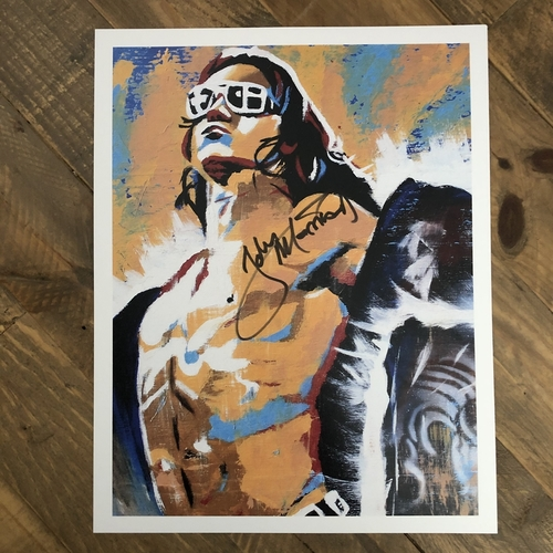 Photo of John Morrison  SIGNED 11 x 14 Rob Schamberger Print