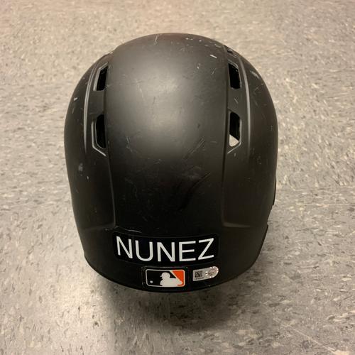 Photo of 2017 Game Used Batting Helmet worn by #10 Eduardo Nunez on 5/27 vs. Atlanta Braves - Size 7 1/4