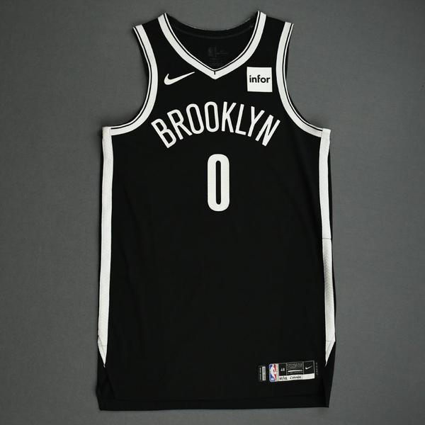 Image of David Nwaba - Brooklyn Nets - NBA China Games - Game-Worn Icon Edition Jersey - 2019-20 NBA Season