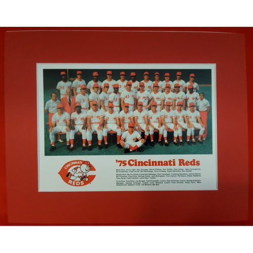 Photo of Matted 1975 Reds Team Photo - 11x14