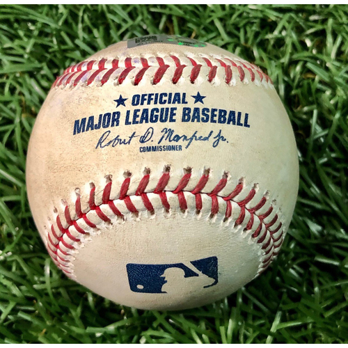 Game Used Baseball: Michael Chavis 2R HOME RUN (2) off Ryan Yarbrough - August 5, 2020 v BOS