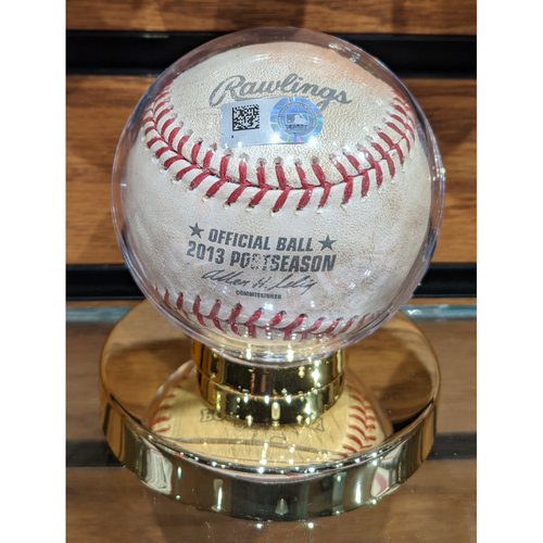 2013 ALCS Game 1 Detroit Tigers vs. Boston Red Sox October 12, 2013 Game Used Baseball