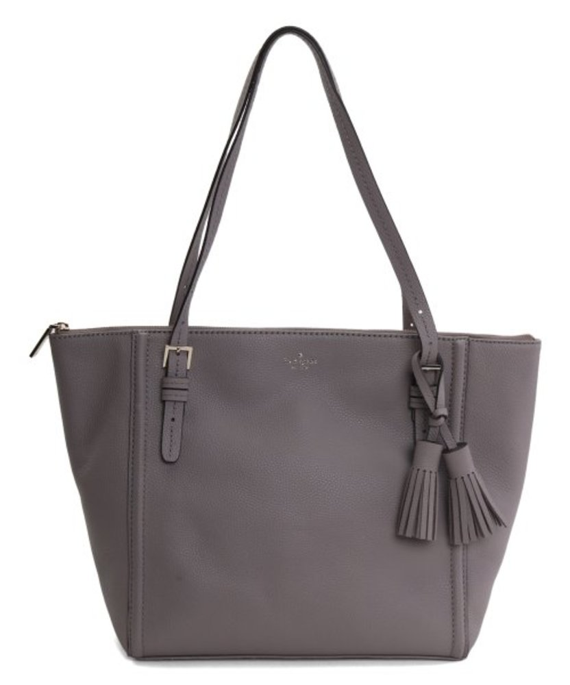 Photo of Cityscape Tassel-Accent Maya Orchard Street Leather Tote