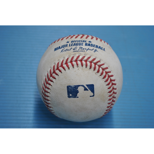Photo of Game-Used Baseball - 2020 NLDS - Los Angeles Dodgers vs. San Diego Padres - Game 3 - Pitcher - Adrian Morejon, Batters - Cody Bellinger (Reaches on Fielder's Choice - Max Muncy Scores), A.J. Pollock (Hit by Pitch) - Top 2