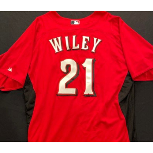 Photo of WILEY-21 -- Authentic Reds Jersey -- $1 Jersey Auction -- $5 Shipping -- Size 48 (Not MLB Authenticated)
