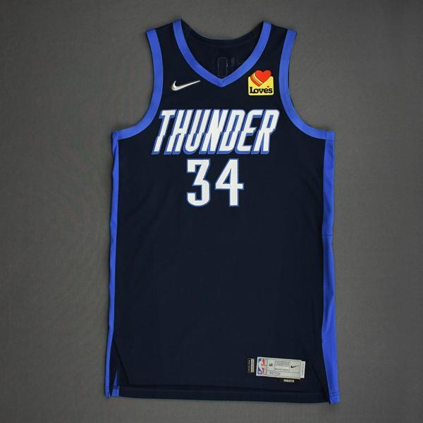 Image of Kenrich Williams - Oklahoma City Thunder -Game-Worn Earned Edition Jersey - 2020-21 NBA Season
