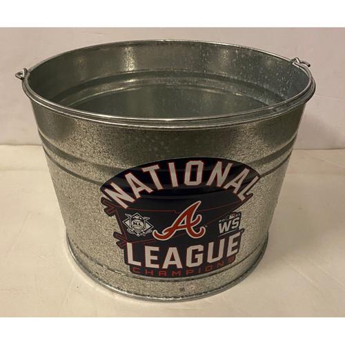 Photo of National League Champions Locker Room Celebration Ice Bucket - Used in the Locker Room
