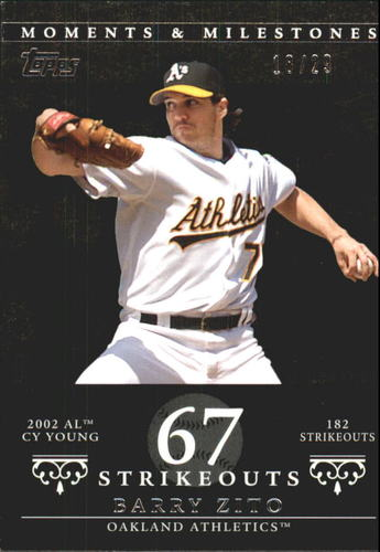 Photo of 2007 Topps Moments and Milestones Black #49-67 Barry Zito/SO 67