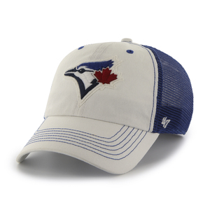 Toronto Blue Jays Taylor Flex Fit Cap White/Royal by '47 Brand