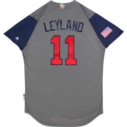 2017 World Baseball Classic: (USA vs. DR)  Round 1 - Jim Leyland Team USA Game-Used Road Gray Jersey - Size 44