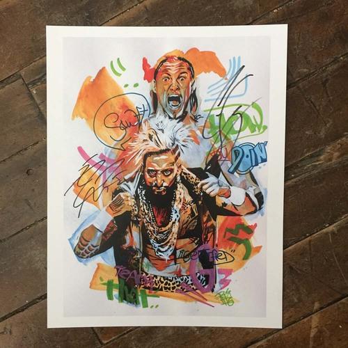 Enzo & Big Cass SIGNED 11 x 14 Rob Schamberger Print