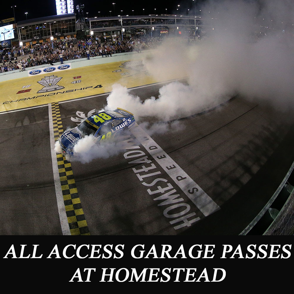 All Access NASCAR Garage Passes at Homestead!
