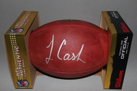 NFL - PANTHERS JEREMY CASH SIGNED AUTHENTIC FOOTBALL