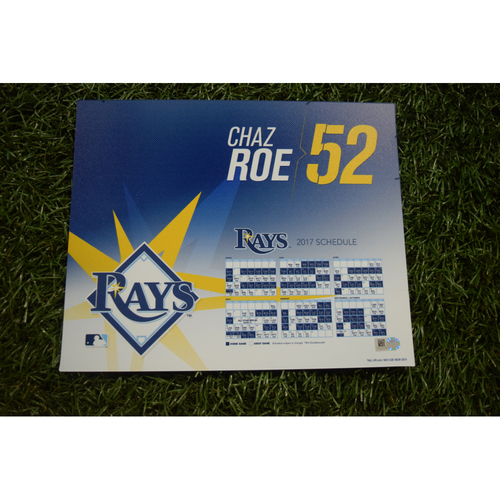 2017 Team-Issued Locker Tag - Chaz Roe
