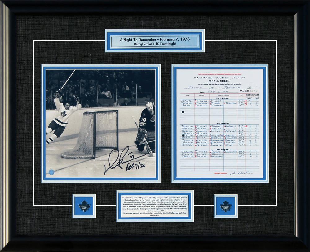 Darryl Sittler - Signed & Framed 10x10