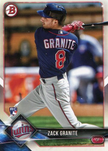 Photo of 2018 Bowman #9 Zack Granite -- Rookie Card
