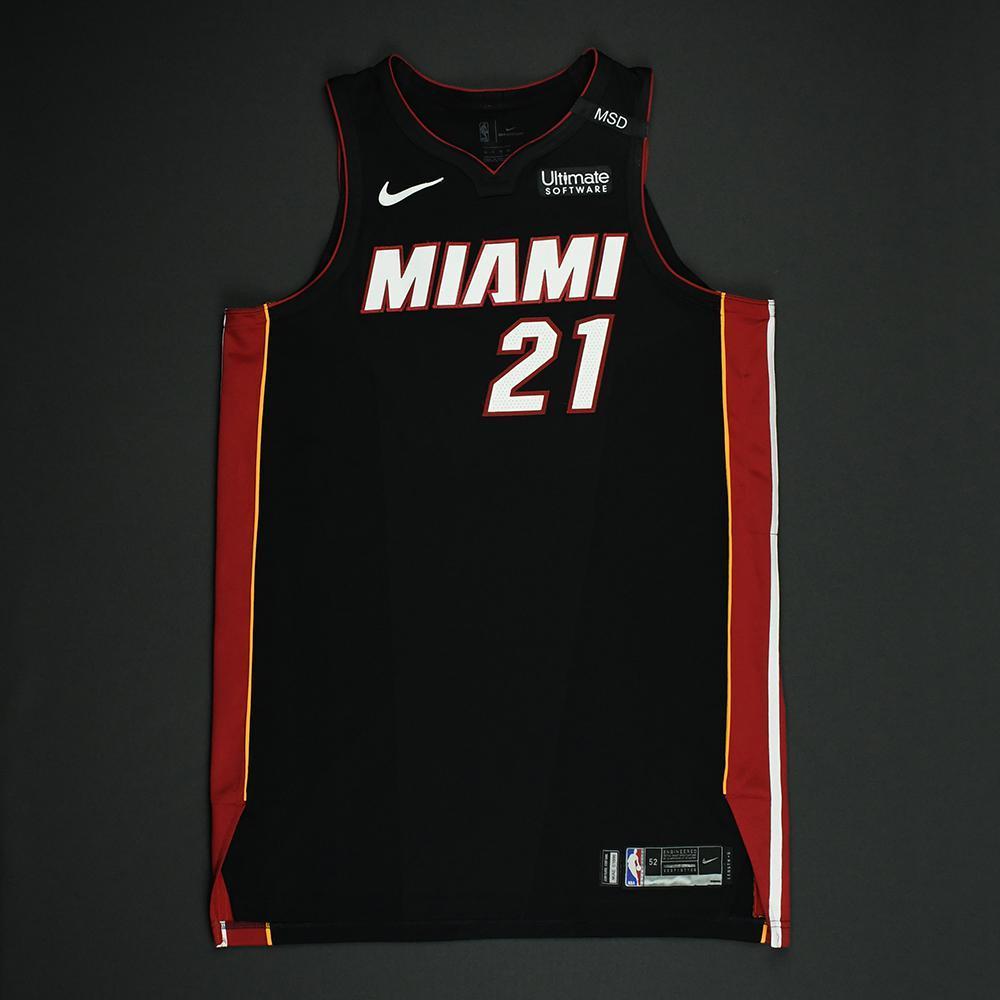 Hassan Whiteside - Miami Heat - 2018 NBA Playoffs Game-Worn Jersey