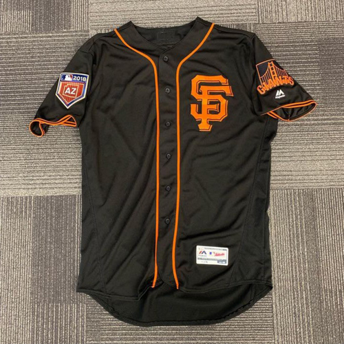 Photo of End of Year Auction - 2018 Team Issued Spring Training Jersey - worn by #41 Mark Melancon for the 3/27/18 Exhibition vs OAK - size 48