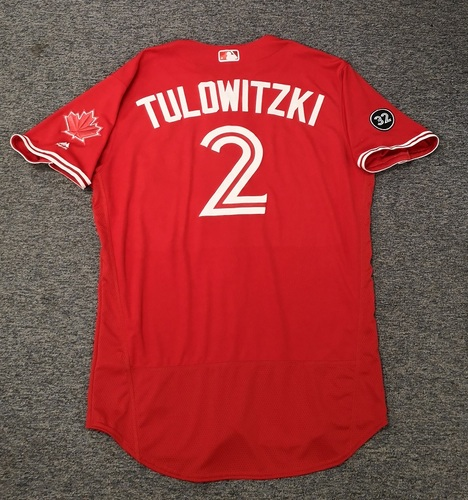 Photo of Authenticated Team Issued 2018 Canada Day Jersey - #2 Troy Tulowitzki. Size 48.
