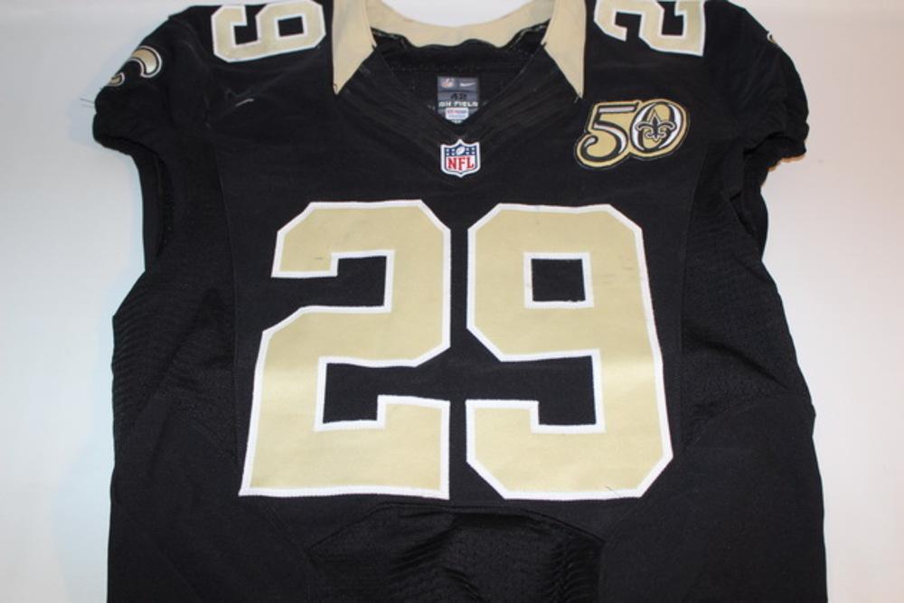 NFL Auction   STS - SAINTS JOHN KUHN GAME WORN SAINTS JERSEY ...