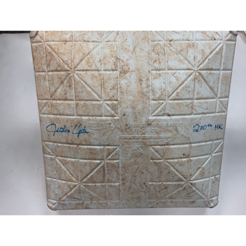 Photo of Autographed Game-Used Base: Justin Upton 200th Career Home Run