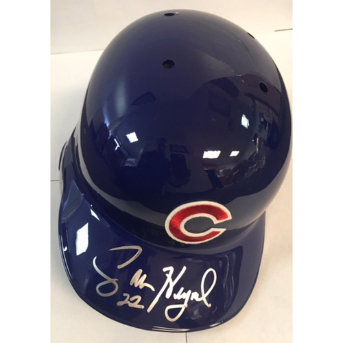 Photo of Jason Heyward Autographed Cubs Batting Helmet