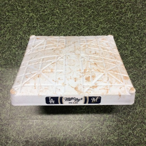 Photo of Game-Used 3rd Base (INN 1-9) LAD@MIL 04/21/19 - Cody Bellinger Go-Ahead, 9th Inning HR