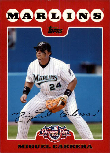 Photo of 2008 Topps Opening Day #10 Miguel Cabrera