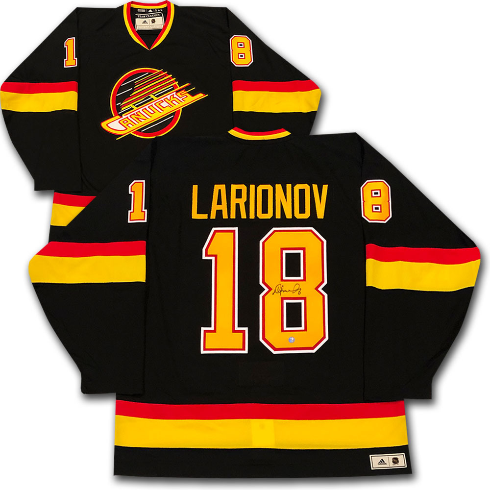 Igor Larionov Autographed Vancouver Canucks adidas Team Classics Authentic Vintage Jersey