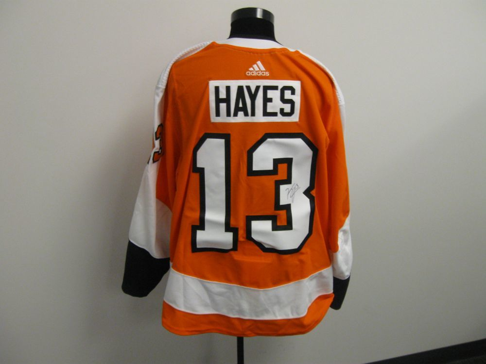 Kevin Hayes Autographed Event Worn Jersey from 2019 Player Media Tour - Philadelphia Flyers