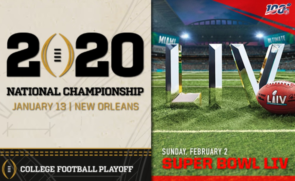 CFP Championship + Super Bowl VIP Combo Package - Benefiting the College Football Playoff Foundation