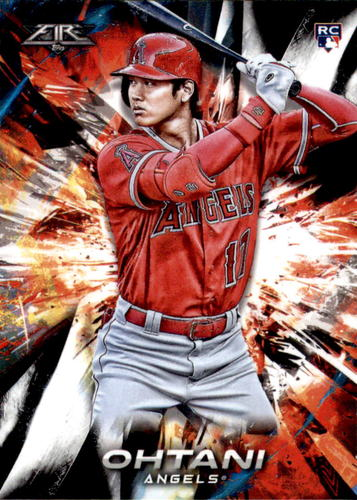 Photo of 2018 Topps Fire #150 Shohei Ohtani Rookie Card