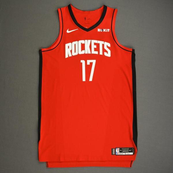 Image of PJ Tucker - Houston Rockets - Kia NBA Tip-Off 2019 - Game-Worn Icon Edition Jersey