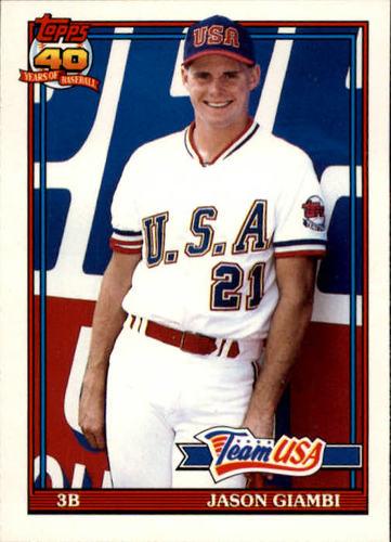 Photo of 1991 Topps Traded #45T Jason Giambi USA RC
