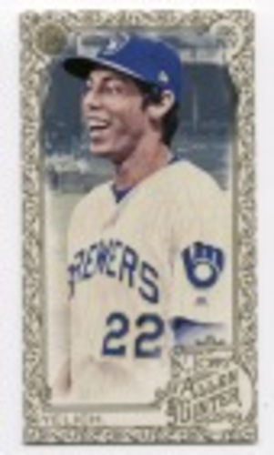 Photo of 2019 Topps Allen and Ginter Mini Gold Border #2 Christian Yelich