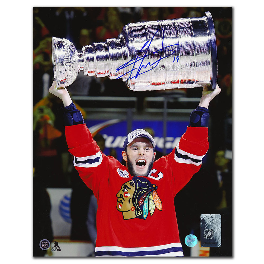 Jonathan Toews Chicago Blackhawks 2015 Stanley Cup Autographed 8x10