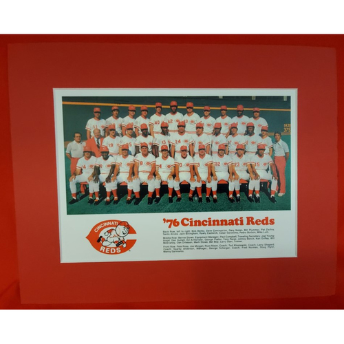 Photo of Matted 1976 Reds Team Photo - 11x14