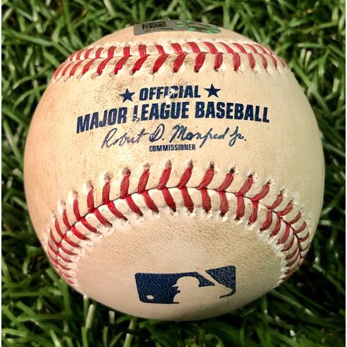 Photo of Game Used Baseball: Alex Verdugo 2R HOME RUN (1) off Ryan Yarbrough - Alex Verdugo First Home Run as a Red Sox - August 5, 2020 v BOS